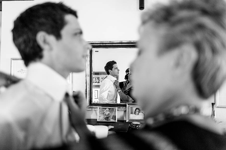 getting ready of the groom